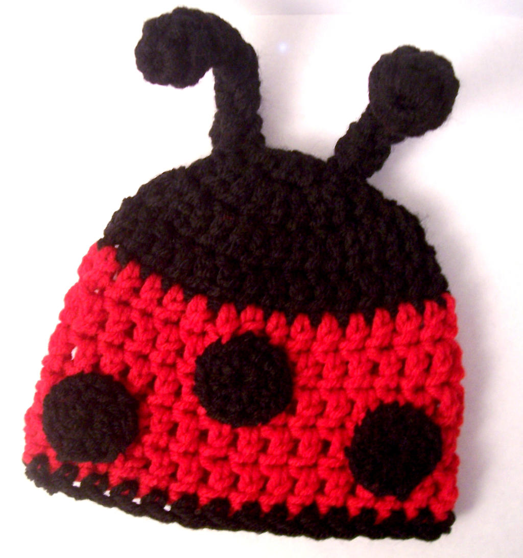 Crochet ladybug baby hat pattern manet for newborn ladybug hat by fyre fly on deviantart bankloansurffo Choice Image