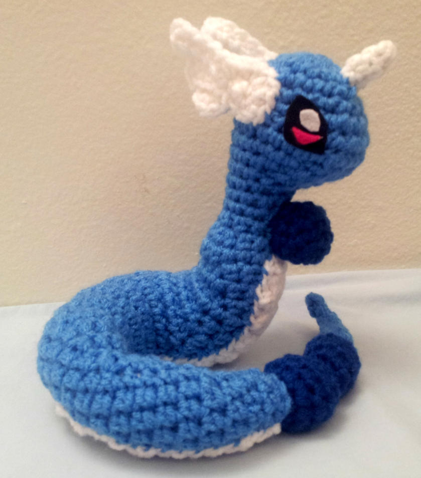 Dragonair Amigurumi Pattern : Amigurumi Crochet Dragonair by fyre-fly on deviantART