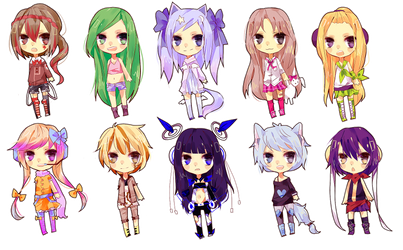 Chibi Commissions by kittsay