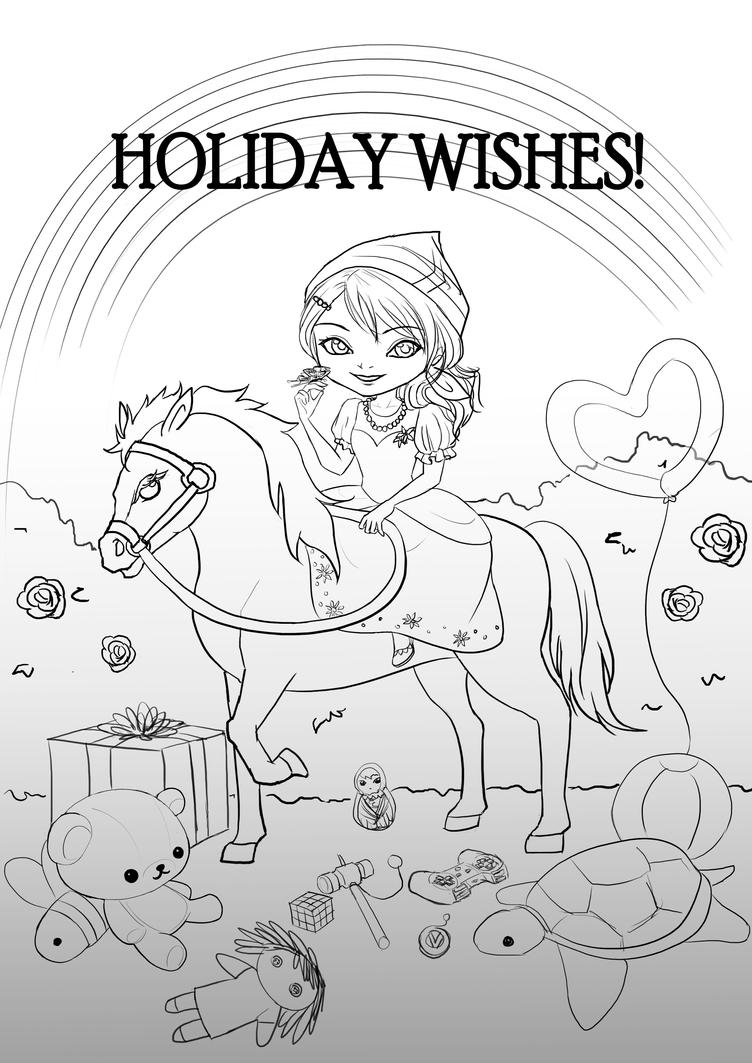 Chibi Holiday Greeting Card by choyuki