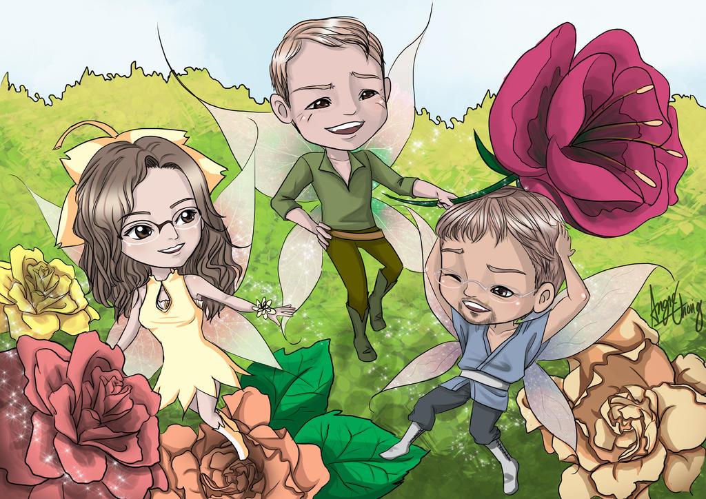 Fairies Chibi Commission by choyuki