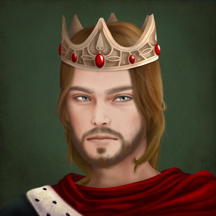 Medieval King Headshot by choyuki