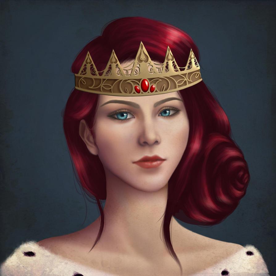 Medieval Queen Headshot by choyuki