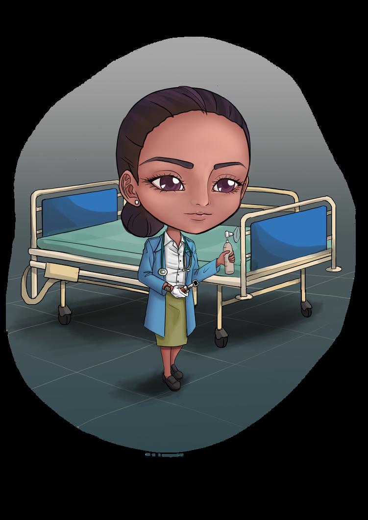 Lynette Respiratory Therapist Chibi by choyuki