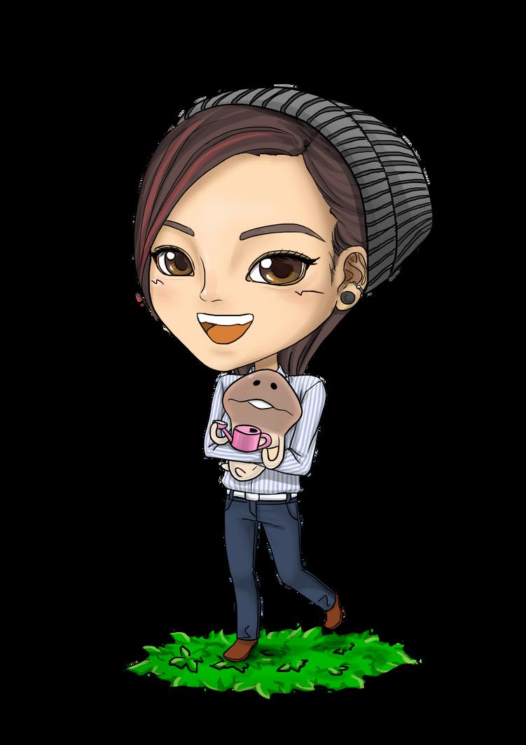 Chibi with Neo Mushroom by choyuki
