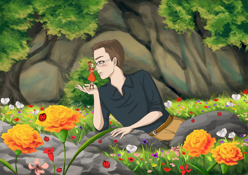 Ghibli inspired- Arrietty Love Story Commission by choyuki