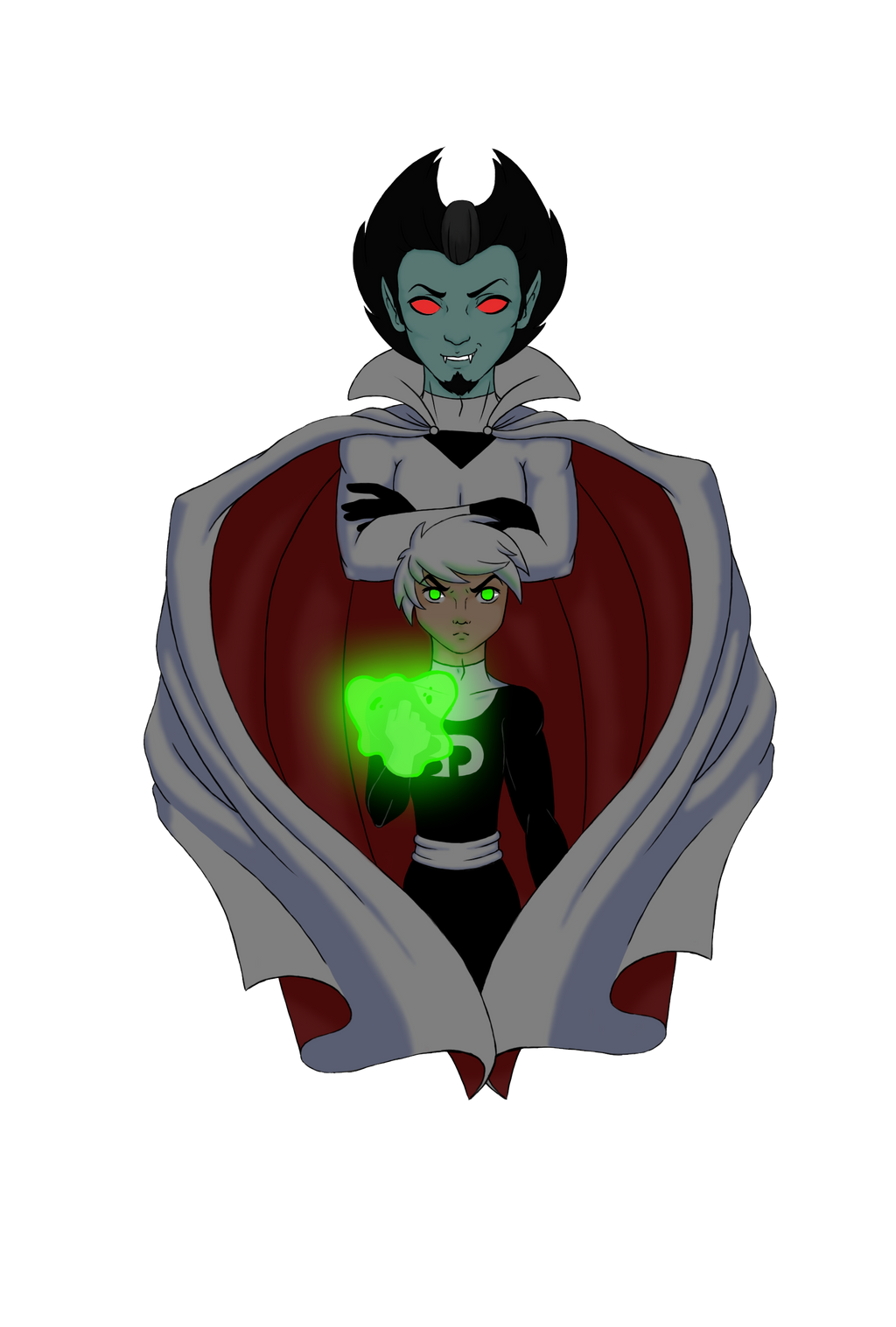 Vlad Plasmius x Danny Phantom by RainbowMassacre90