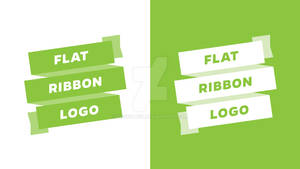 Flat Ribbon Logo - Adobe Illustrator - Tutorial