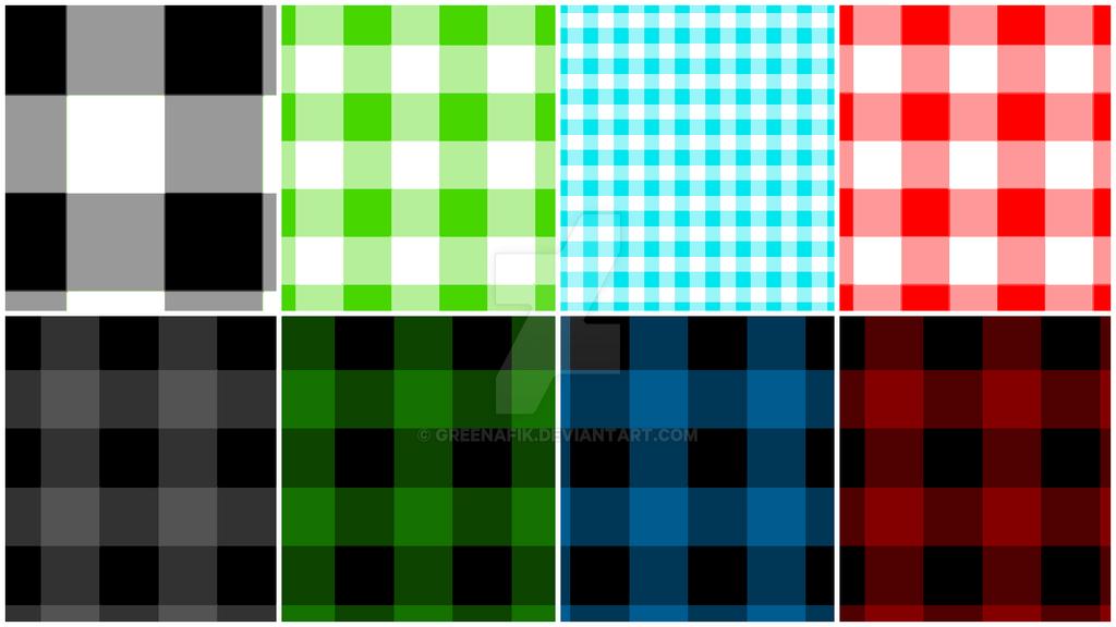 Buffalo Check Pattern - Photoshop Tutorial by Greenafik