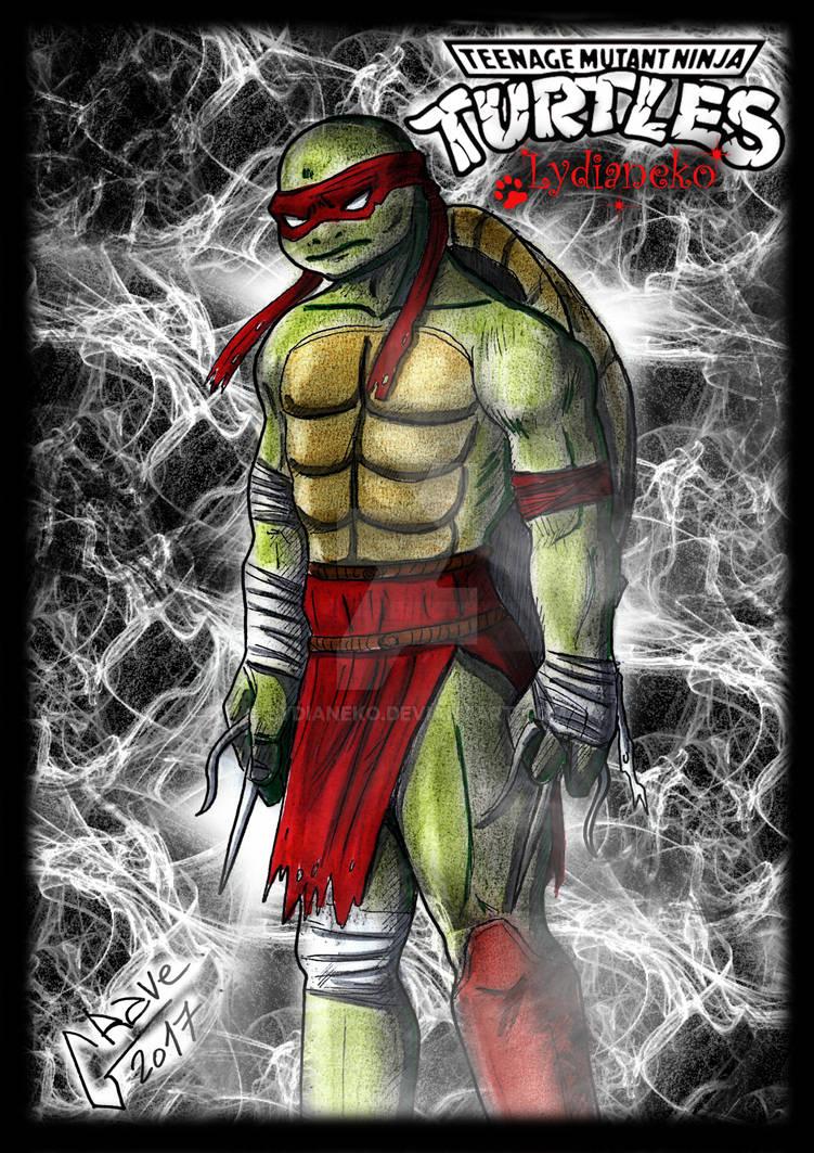 Tortue Ninja Raphael By Lydianeko On Deviantart
