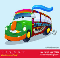 Pixart Electric Mayhem Bus by dhulteen