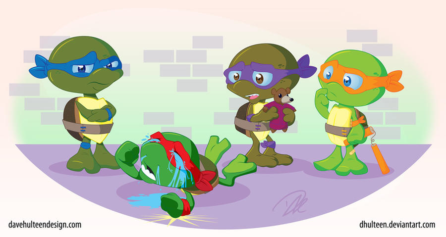 Toddler Mutant Ninja Turtles by dhulteen