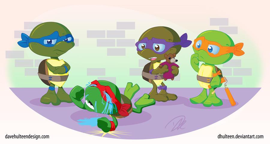 Toddler Mutant Ninja Turtles by dhulteen