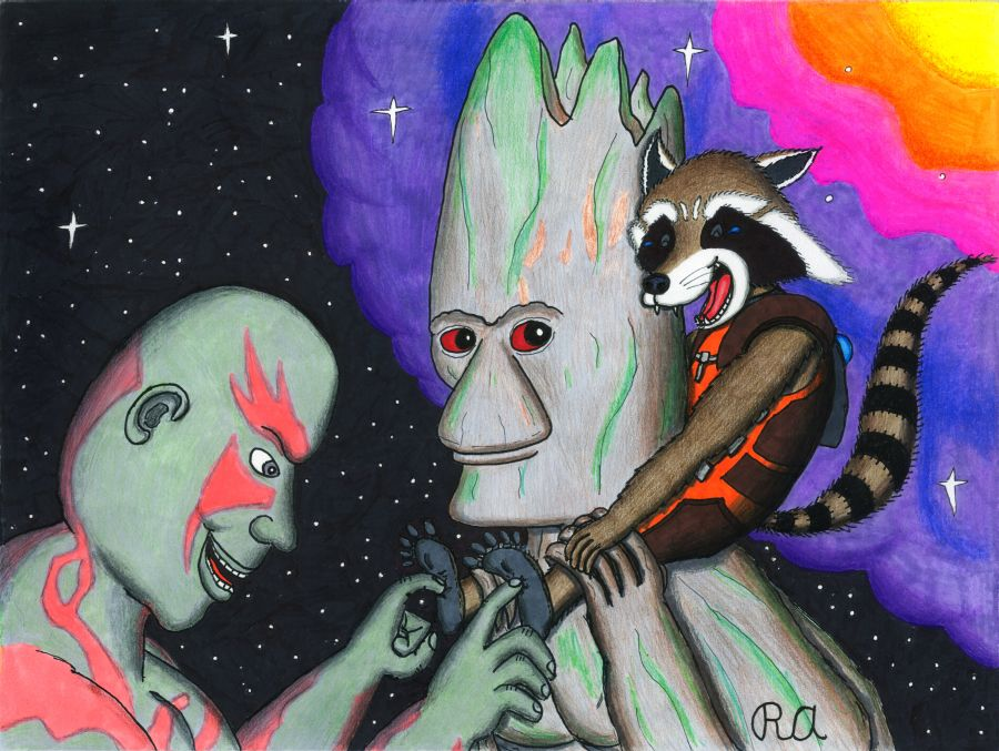 Cosmic Space Tickle for Rocket Raccoon by WalterRingtail