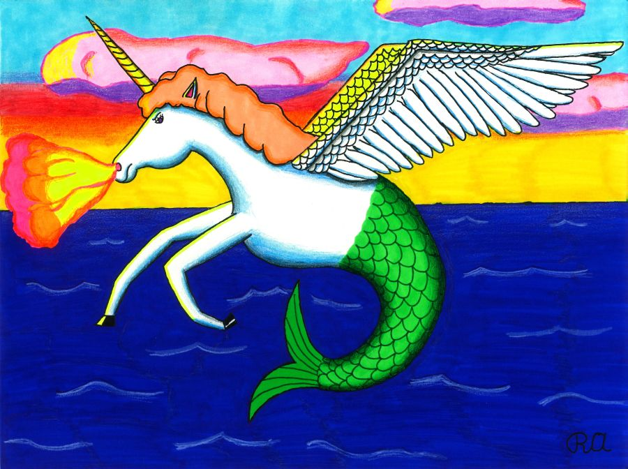 The Fire Breathing Flying Unihorse Mermaid! by WalterRingtail