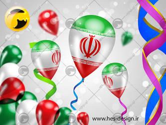 Iran flag No 2 by hesdesign