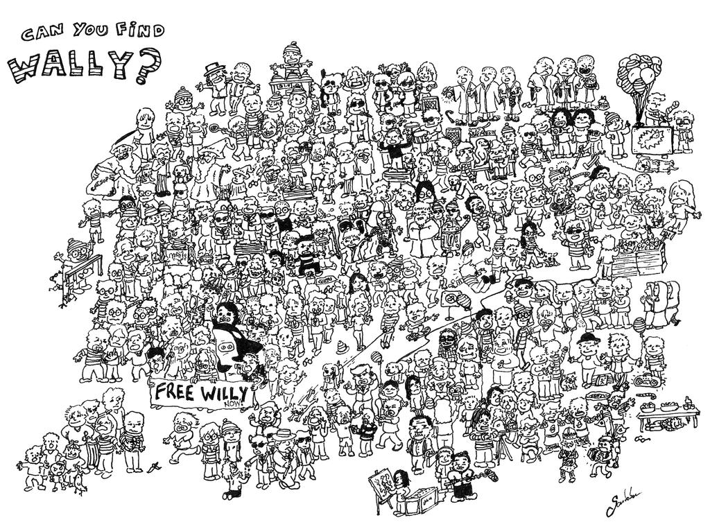 waldo coloring pages - photo#37