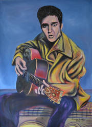Young Elvis with a Guitar 2012 by CameronBentley