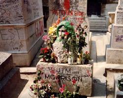 Jim Morrison's grave 1987-8