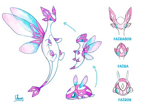 Fakemon Dragon/fairy type