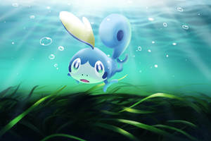 Sobble underwater pokemon fanart by ChunPhan
