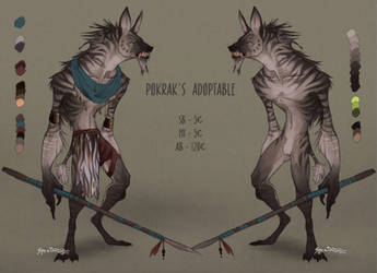 .:Adoptable:. Tribal mutant hyena - Pokrak [OPEN]