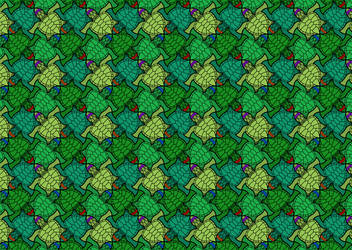 Ninja Turtle Wallpaper Pattern by RoxasTsuna