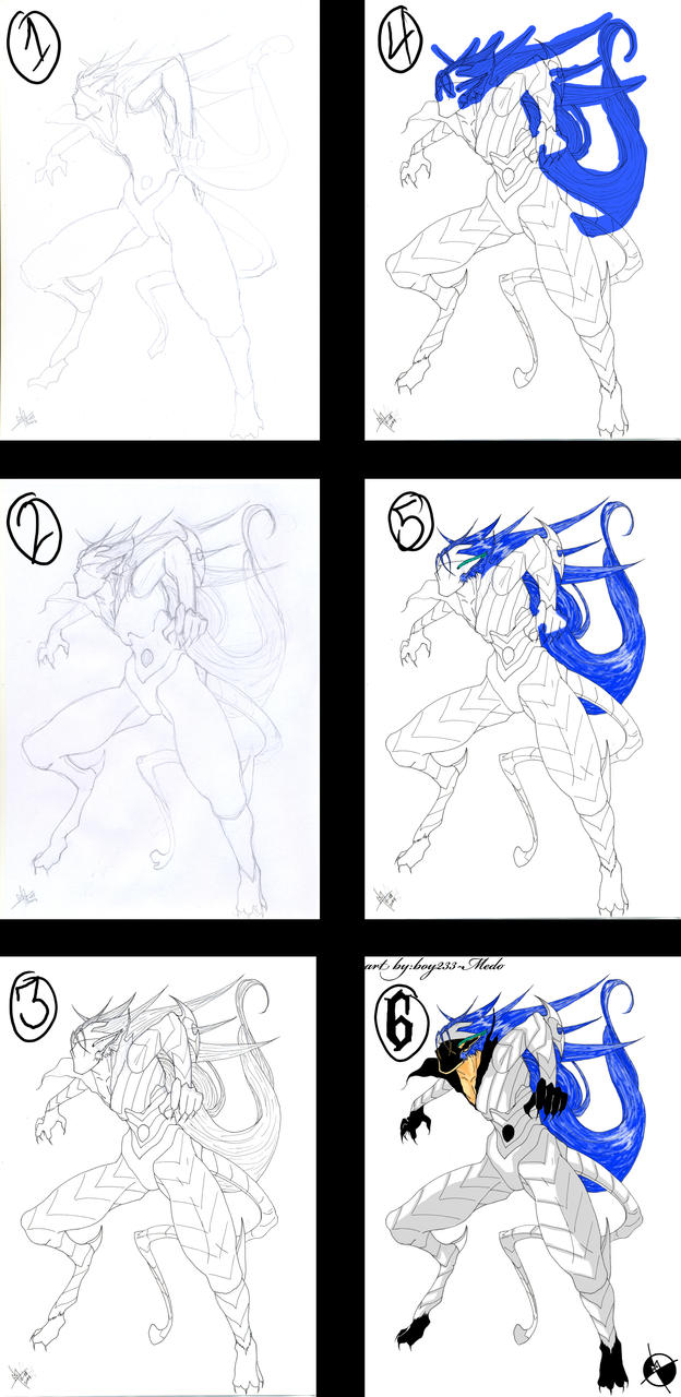 Bleach: Grimmjow Tutorial by boy233