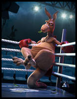 The Boxing Kangaroo by JoseAlvesSilva