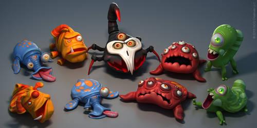 Micro Smash monsters by JoseAlvesSilva