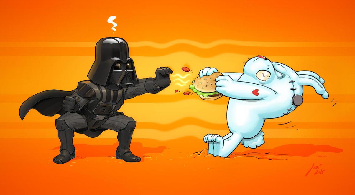 Bunny vs Vader by JoseAlvesSilva