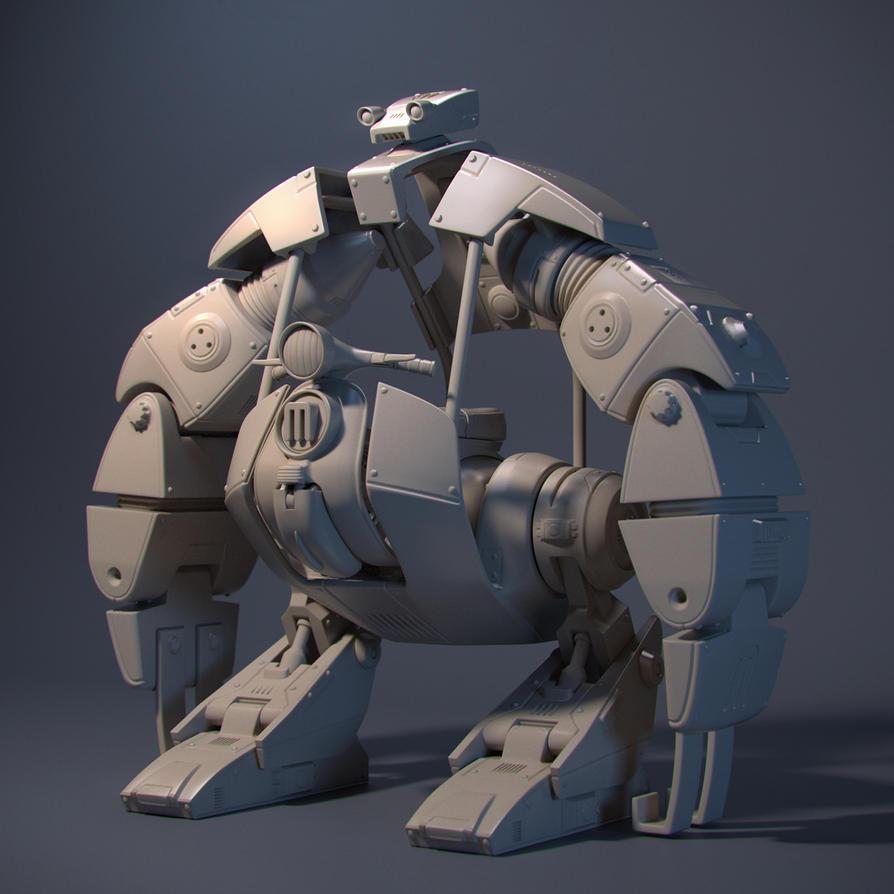 Brooklyn Bridge Robot by JoseAlvesSilva