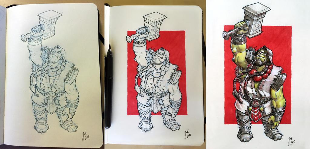 Thrall - sketch by JoseAlvesSilva