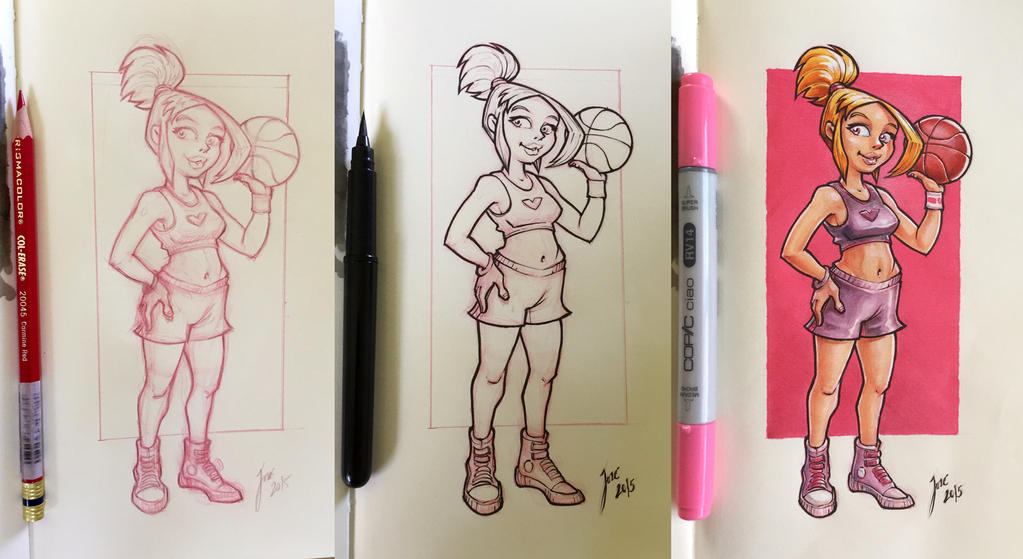 Basket Girl - sketch by JoseAlvesSilva
