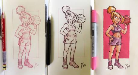 Basket Girl - sketch