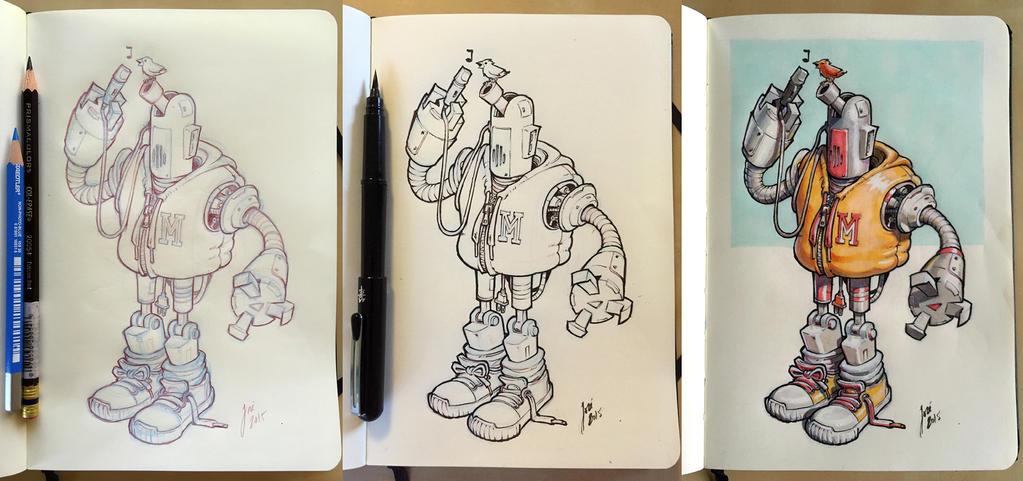 Robot - sketch by JoseAlvesSilva