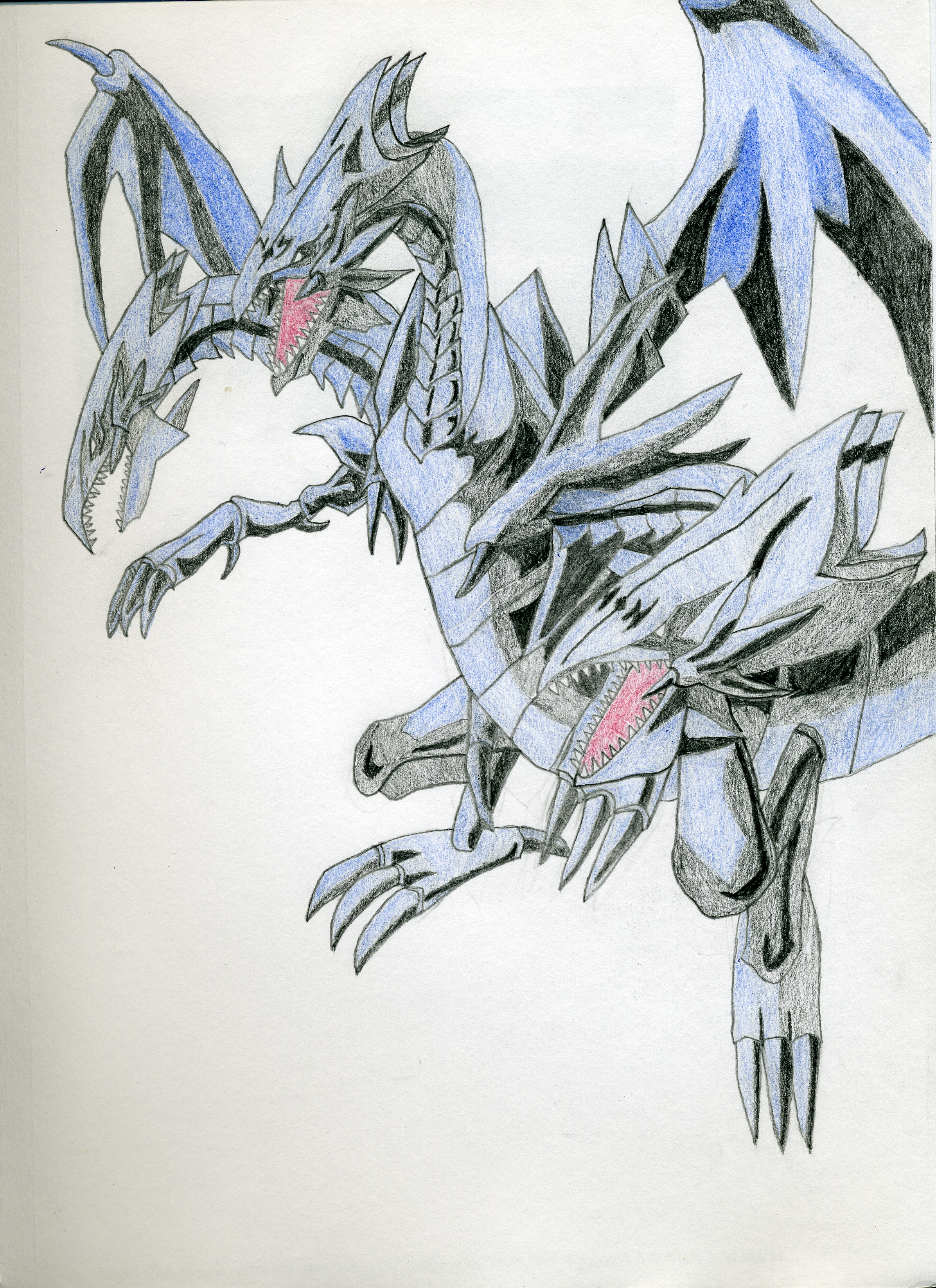 blue eyes ultimate dragon sketch by norgiloth on deviantart