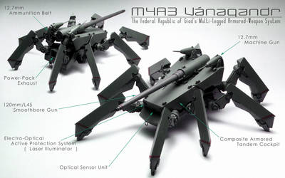 Multi-legged Armored-Weapon System M4A3 Vanagandr
