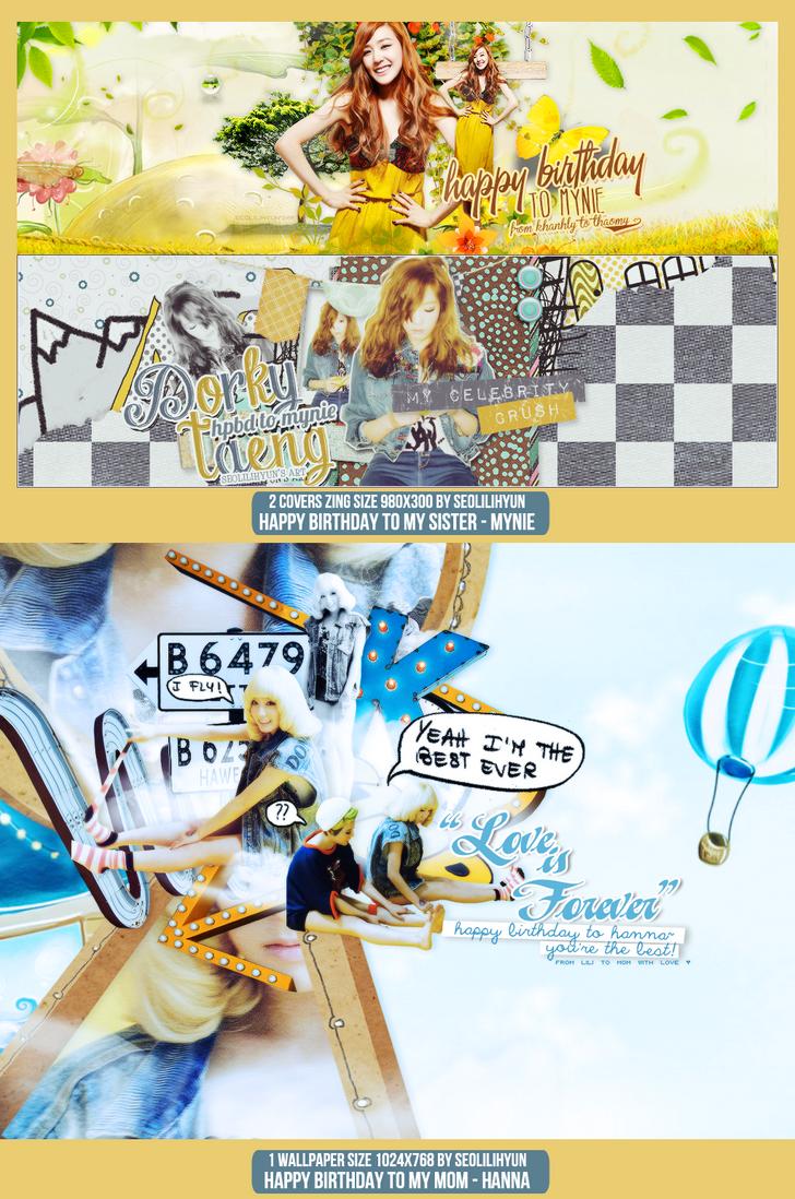 131019 - Gift for Mynie (19/10) - Hanna (24/10) by SeoLiliHyun