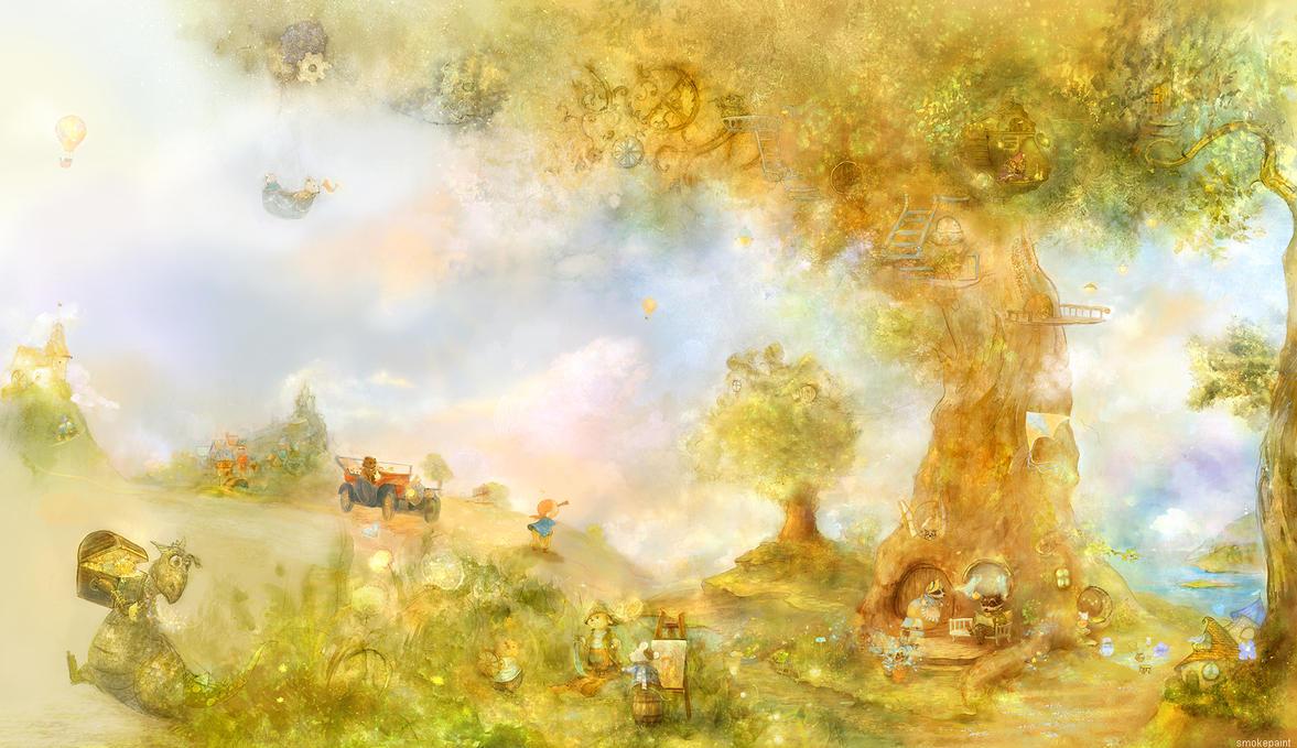 wallpaper in the nursery by smokepaint