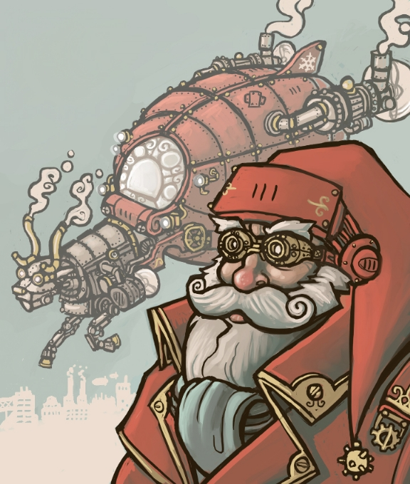 Steampunk Santa by CyborgNecromancer