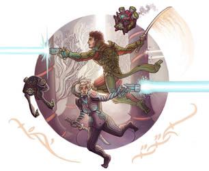 Lilith and Loki: Warframe Style by CyborgNecromancer