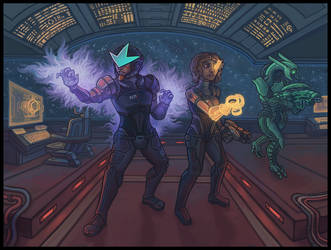 Jake and Bunni: Mass Effect Style by CyborgNecromancer