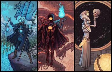 Alternate Necromancer Triptych by CyborgNecromancer