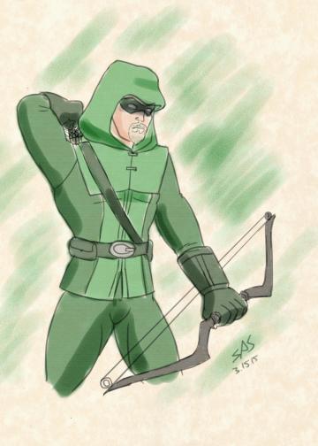 Warm-Up 0007: Green Arrow by RFComics