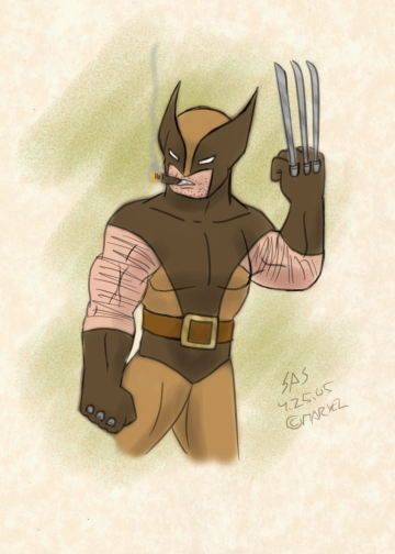 Warm-Up 0022: Wolverine (Brown Costume) by RFComics