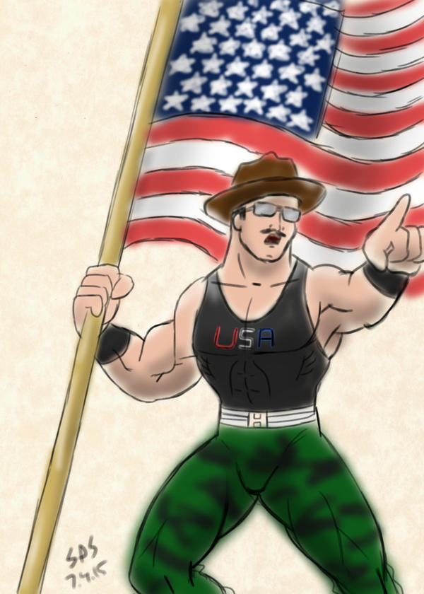 Sarge on the 4th by Dragonfly177