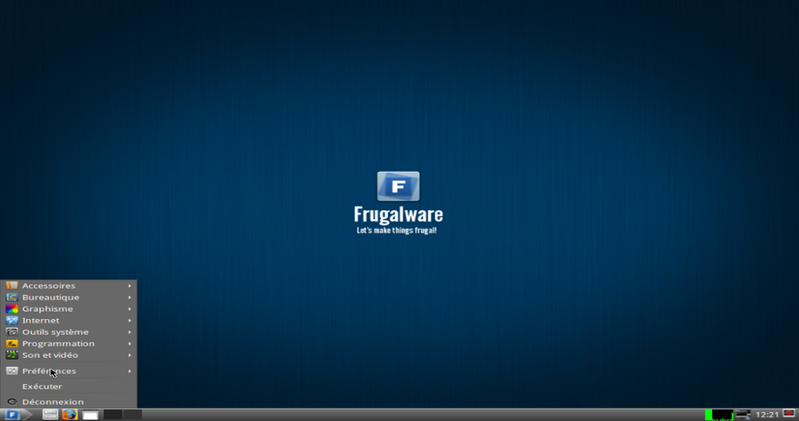 Frugalware 1.6 Fermus LXDE theme by frugalware