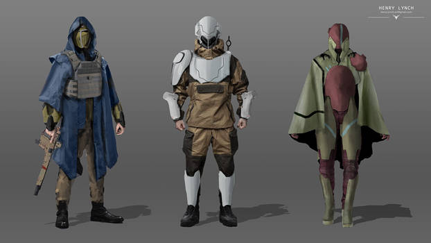 SciFi Character Concepts by HenryLynch
