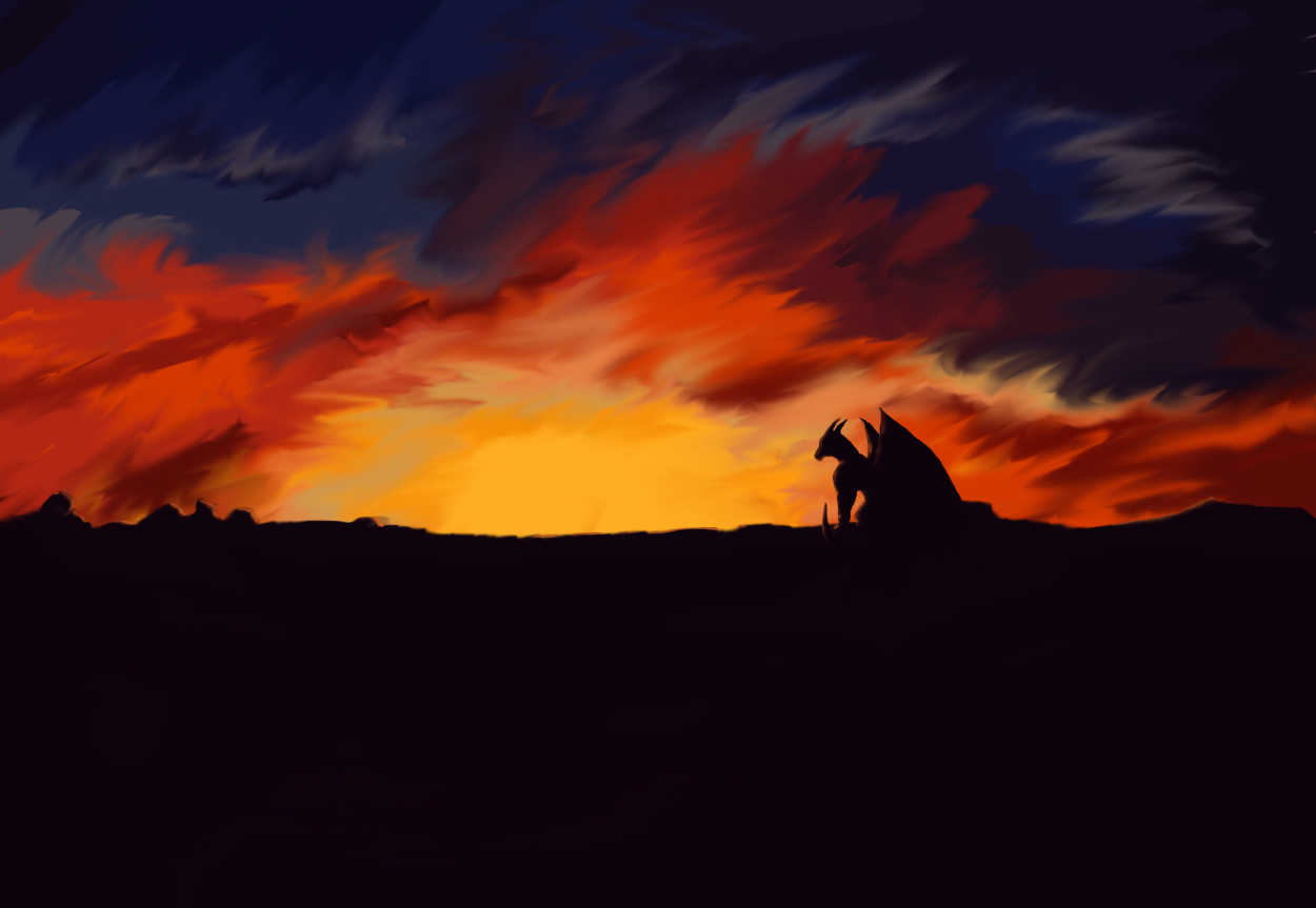 dragon_sunset by kovah on DeviantArt |Dragons And Sunsets